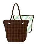 Complete Purse: Brown insert with first cover of your choice